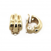 Gold Plated Polished Small Fashion Clip On Earrings