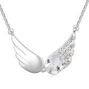 Alvdis Wings Style Crystal Pendant Necklace, 41cm
