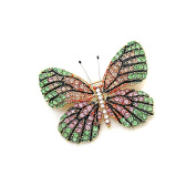 Pastel Butterfly Crystal Pin