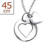 Silver Heart Necklace - Cut Out and Centre