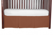 Double Pleat Tailored Crib SkirtNavajo Red 38cm long