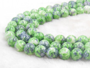 COIRIS 8MM Synthetic Dyed Green Riverstone Gem Round Stone Loose Beads for Jewellery Making & DIY & Design