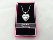 Hallmark Love Locket Necklace with 41cm - 46cm Adjustable Chain - Summer