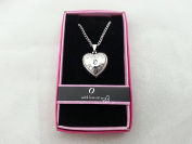 "Hallmark Love Locket Necklace with 41cm - 46cm Adjustable Chain - Letter ""O"""