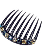Fancyin New arrival Luxury Austrian Crystal colourful rhinestones hair comb for women