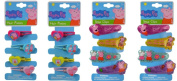Peppa Pig 4 Hair Ponies x 2 and 4 Glitter Snap Hair Clips x 2