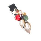 "Hanabe ""Florist"" Handmade View of Tree Branch Colourful Beaded Hairclip Hairpin"