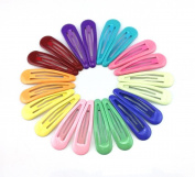 yueton 10 Pairs Colourful Assorted Colour Glossy Snap Prong Clips Bendy Hair Clips Barrettes for Ladies Girls Hair Bows