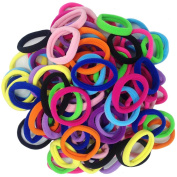 Thick Seamless Cotton Hair Bands, Simply Hair Ties Ponytail Holders Headband Scrunchies Hair Accessories No Crease Damage for Thick Hair J-MEE(100pcs)