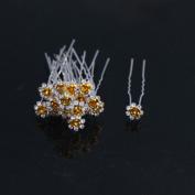 Leoy88 10pcs Rose Flower Hair Pins