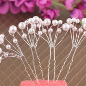 Leoy88 5pcs Bridal Flower Headpiece Hair Pin for Wedding