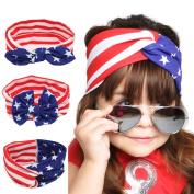3Pcs American Flag Stars & Stripes Baby Headband
