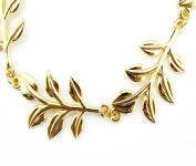 Leoy88 Women Leaf Metal Head Chain Combs Piece