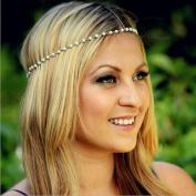 Leoy88 Women Head Jewellery Chain Tassels