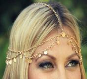 Leoy88 Women Shiny Piece Simple Headdress