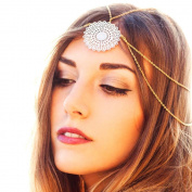 Leoy88 1pc Tassels Head Chain Headpiece for Wedding Party