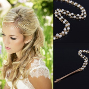 Leoy88 Women Girls Head Chain Jewellery Headband Headpiece Hair Band as Gift