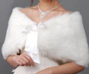CIMC LLC Faux Fur Bridal Stole Bridal Wedding Wrap Shawls Waistcoat