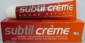 Subtil Creme Rouge Reflects - Red Highlight Hair Colouring Cream Enhanced with Epaline for Gentleness - Size