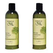 Earthly Body Miracle Oil Tea Tree Shampoo & Conditioner Set, 470ml