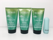 Redken Curl Refiner leave-in Travel Size 50ml 3 Pack.Free Nicka K Hydra Lip Balm