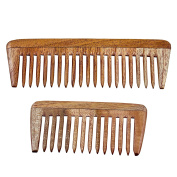 Natural Neem Wood Comb, Set of 2 for Hair Care