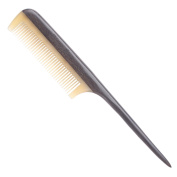 Breezelike No Static Sheep Horn Comb Fine Tooth Teasing Tail Comb with Chacate Preto Wood Handle