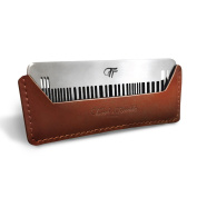 "Tough & Tumble Tough & Tumble - ""THE BARCODE"" Metal Comb with Leather Sheath"
