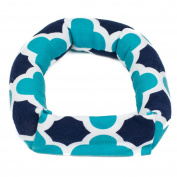 Savvy Curls Curling Hair Wrap, Single Blue Quatrefoil, 30ml