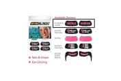 EyeBlack Pink Womens Breast Cancer Awareness Peel and Stick