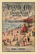 "Buyenlarge 0-587-20560-1-P1218 ""Atlantic City Board Walk Promenade March"" Paper Poster, 30cm x 46cm"