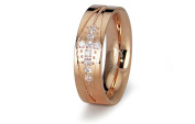 Stainless Steel Rose Gold Ladies Wedding Band