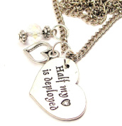 Half My Heart Is Deployed 46cm Pendent Necklace