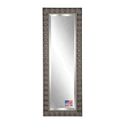 Rayne Mirrors American Made Bevelled Full Body Mirror, 70cm by 170cm , Feathered Mahogany Accent