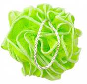 Huachnet Light Green HDPE Mesh Exfoliating Bath Sponge Shower Pouffe Loofah - Pack of 1