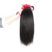 Yaweida Hair 8~70cm Brazilian Virgin Human Hair Extension Silky Straight, Pack of Three, 100g/Bundle,7A Natural Colour Weft