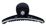 Flower Rhinestone Pave Hair Updo Styling Fix Jaw Claw Clip Pin