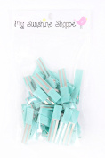 Partially LINED Double Prong Craft Alligator Clips - 25 Hair Clips - Tropic