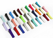 Partially LINED Double Prong Craft Alligator Clips - Grab Bag - 25 Hair Clips