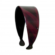 Black Strokes 5.1cm Headband Hair Band with Teeth