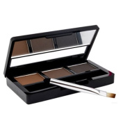 AUCH New/Fashion/Charming Colour Natrual Eyebrow Cake Powder,Color3#:Grey/Dark Coffee/Brown