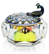Peacock with Crystal Base Trinket Box Model No. J-563