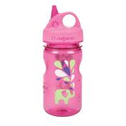 Nalgene Grip 'n Gulp Kids Water Bottle - BPA Free - 350ml - Pink w/Elephant