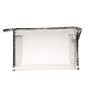 Sopear - Ladies PVC Clear Cosmetic Handbag / Waterproof Travel Makeup Bag for Cosmetic Organiser, Beige