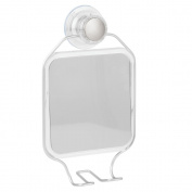 InterDesign Metro Rustproof Aluminium Turn-N-Lock Suction, Bathroom or Shower Shaving Mirror - Silver