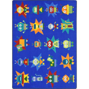 Joy Carpets Kid Essentials Early Childhood Robot Invasion Rug, Multicoloured, 1.5m x 2.1m