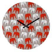 DENY Designs Holli Zollinger Elephant Walk Round Clock, 30cm Round