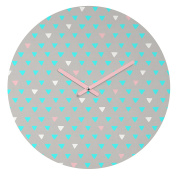 DENY Designs Bianca Green Geometric Confetti Party Round Clock, 30cm Round
