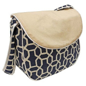 Hoohobbers Messenger Nappy Bag, Pebbles Navy