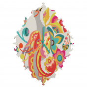DENY Designs Valentina Ramos Unwavering avis Baroque Clock, Medium